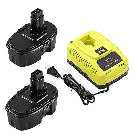2 paquetes de repuesto para batería Dewalt 18 V y cargador ...