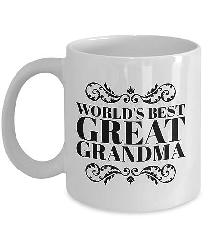 amazon com world s best great grandma mug best grandma gift grandma