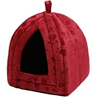 Yumeik cuccia per cane gatto cave Bed, PET tenda Pet Igloo con impronte lovely doppio uso pieghevole letto per gatti e cani di piccola taglia conigli o Toy Breed Dogs