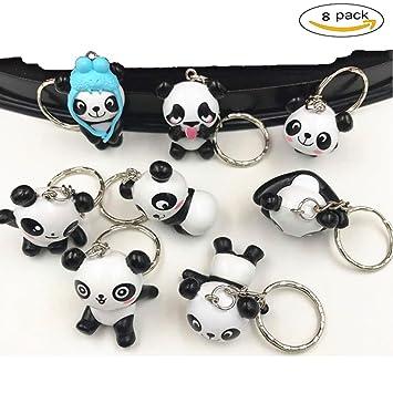YueChen Lindo Panda Llavero, Emoji Llavero ,Llavero de ...