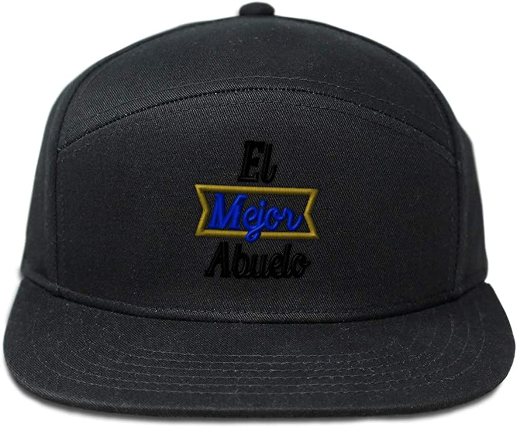 Custom Snapback Hats for Men /& Women El Mejor Abuelo Blue Embroidery Cotton