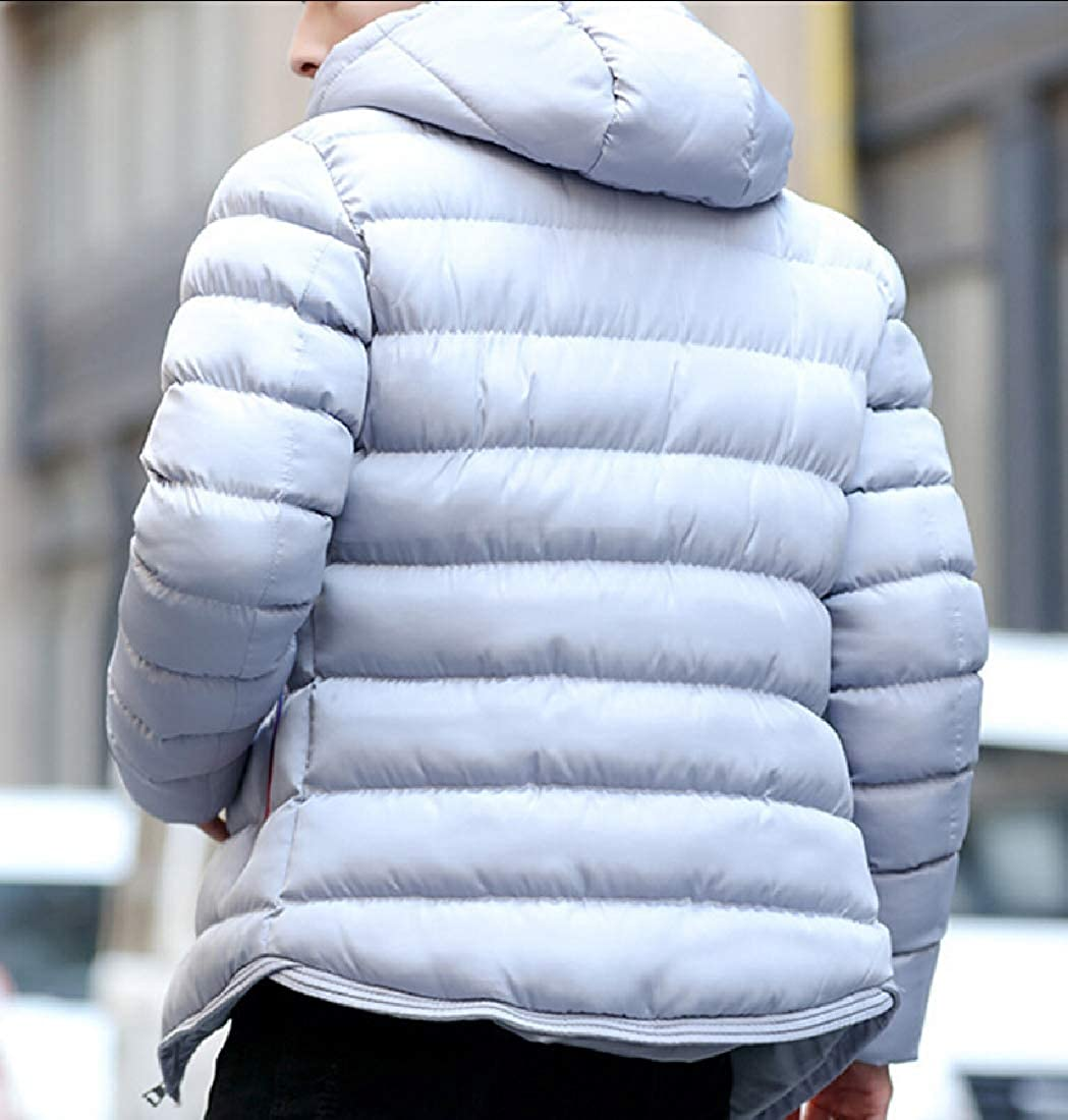 Gocgt Mens Warm Hooded Quilted Puffer Coat Padded Jacket Parkas Outwear