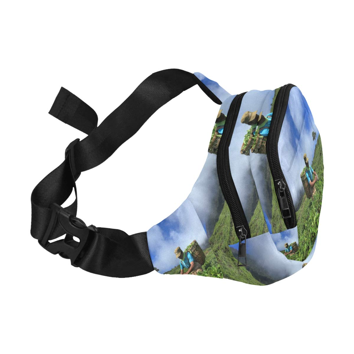 Women Pick In Tea Leaves Fenny Packs Waist Bags Adjustable Belt Waterproof Nylon Travel Running Sport Vacation Party For Men Women Boys Girls Kids