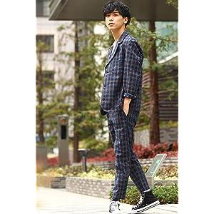 [インプローブス] テーラードジャケット チェック柄テーラードジャケット メンズ 50079 ブルー 日本 L (日本サイズL相当)