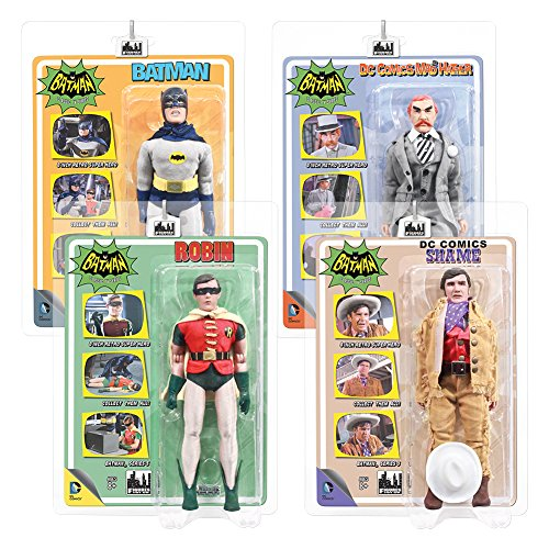 Batman Classic TV Series 8 Inch Action Figures Series 3: Set of all 4 Figures