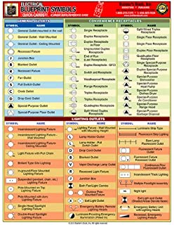 Quick card plumbing mechanical blueprint symbols full color 4 quick card electrical blueprint symbolsfull color 4 page malvernweather Image collections