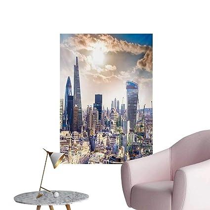 Miraculous Amazon Com City Wall Paper Modern District London Aerial Frankydiablos Diy Chair Ideas Frankydiabloscom