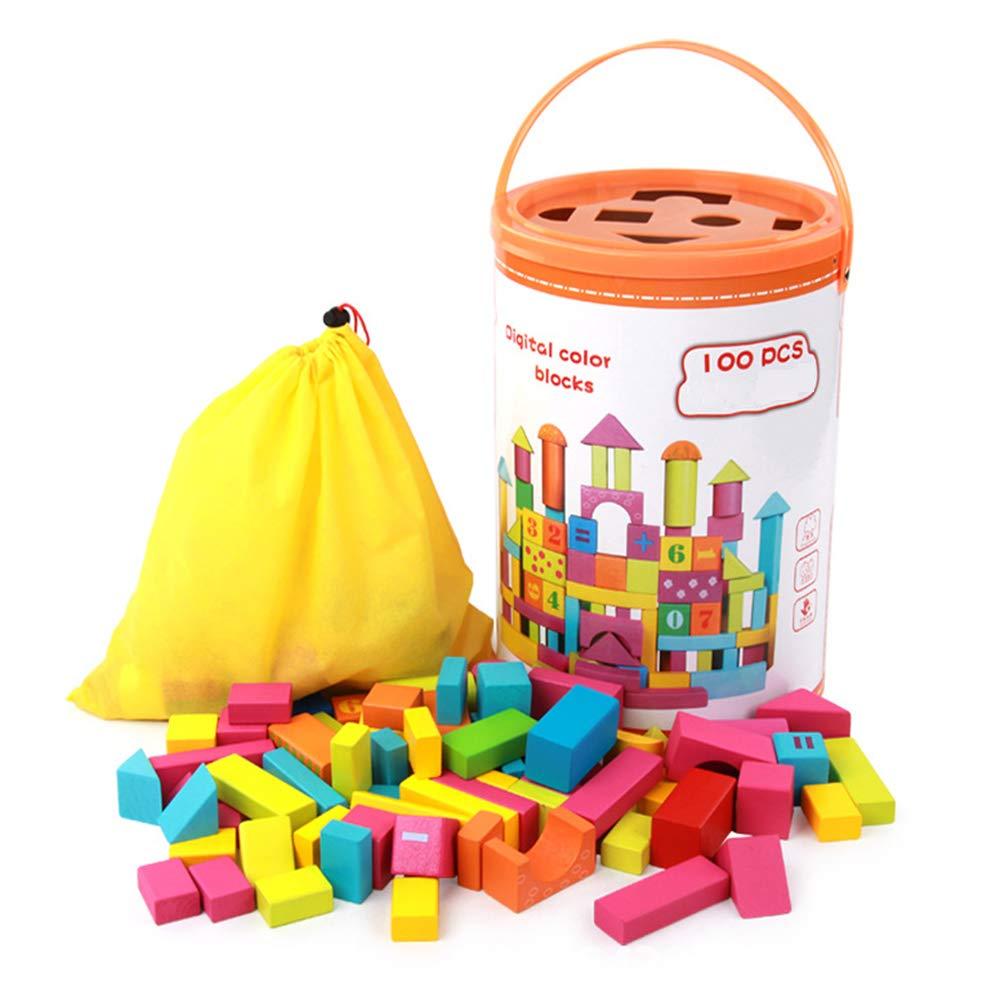 BWMY Juguetes Coloridos Bloques De Construcción Creativa Infantiles Apilar Juguetes De Madera Juegos De Padres E Hijos Durante 3 Años Viejo