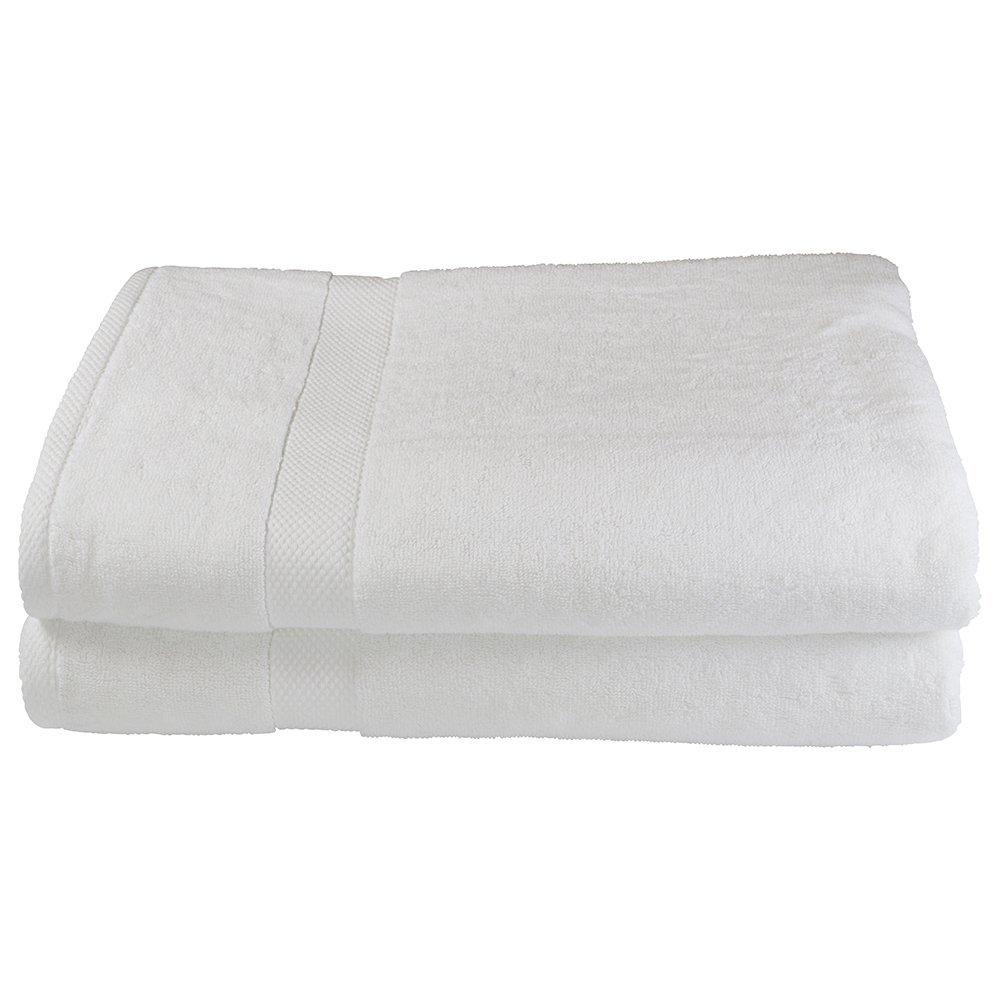 Black Label Collection by Sigmatex – Lanier Textiles BT357023BL32 100% Cotton Oversized Luxury Hotel and Spa Quality Towel 2 Pack White (Bath Sheet 35 x 70)