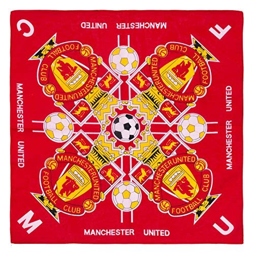 SOCCER MERCHANDISE Manchester United Football Club Bandana Soccer Fc Red