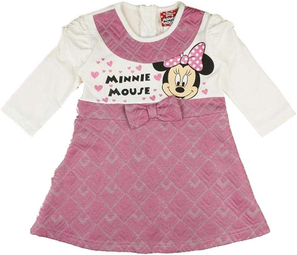Disney Baby - Vestido de manga larga para niña con falda bonita y ...