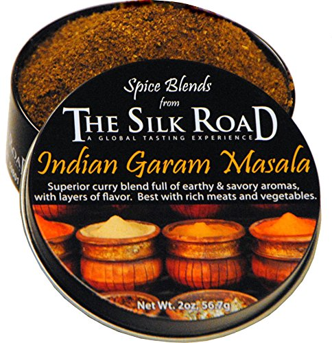 Silk Road Tin - Indian Garam Masala Spice Blend from The Silk Road Restaurant & Market (2oz), No Salt