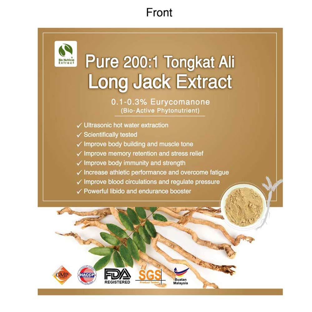 Amazon.com: Pure 200:1 Tongkat Ali Long Jack Eurycoma ...