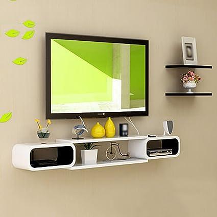 Amazon.com: Set-top Box Racks Wall-mounted TV Cabinet TV Wall ...