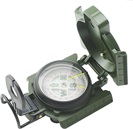 Metal Lensatic Compass Military Camping Hiking Army Style Survival Marching TO