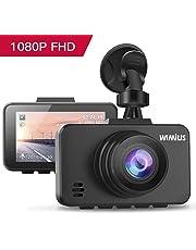 """Caméra Embarquée Voiture, WIMIUS DashCam Voiture Enregistreur de Conduite Full HD 1080P 2.45"""" LCD, 170°Grand Angle, G-Capteur, WDR, Détection de Mouvement, Moniteur de Stationnement"""