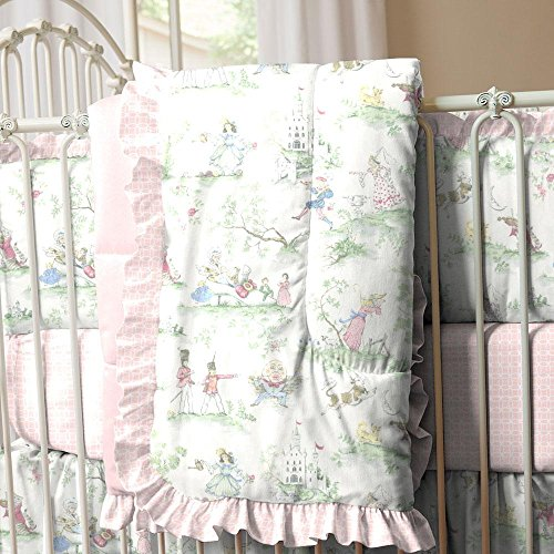 Carousel Designs Pink Over the Moon Toile Crib Comforter (Toile Comforter Pink)