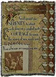 Pure Country Weavers ''Musicians Serenity Prayer Blanket'' Tapestry Throw