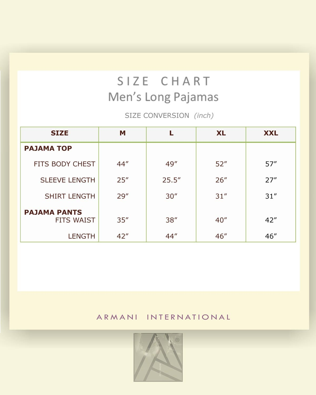 Armani International Alexander Linen Pajamas Large Blue-Pinstriped White by Armani International (Image #4)