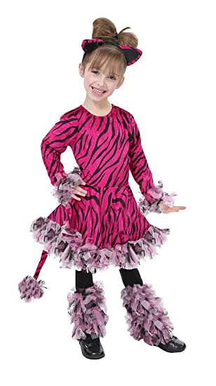 Pink Tiger Costume Med 8 - 10 Years