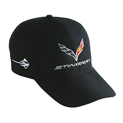 West Coast Corvette - C7 Corvette Embroidered Performance Hat (Black): Automotive