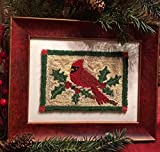 Punch Needle Embroidery CARDINAL & HOLLY