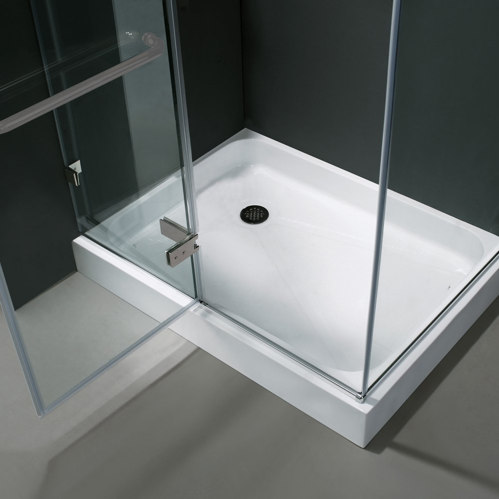 VIGO Monteray 32 x 40-in. Frameless Shower Enclosure with .375-in ...