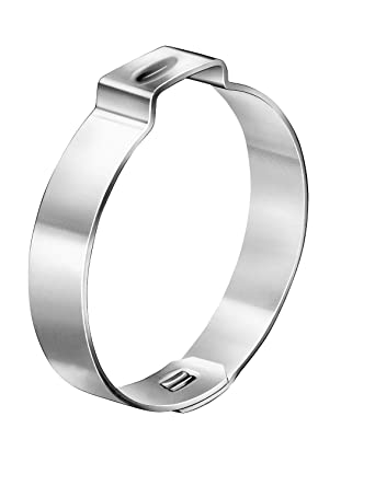 Open Closed One Ear - 18.5 mm 7 mm Band Width Oetiker 10500010 Zinc-Plated Steel Hose Clamp with Mechanical Interlock Clamp ID Range 15.7 mm Pack of 200