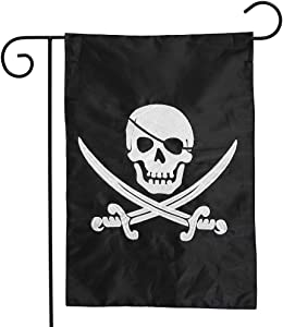 "Briarwood Lane Pirate Jack Applique & Embroidered Garden Flag Nautical 12.5"" x 18"""