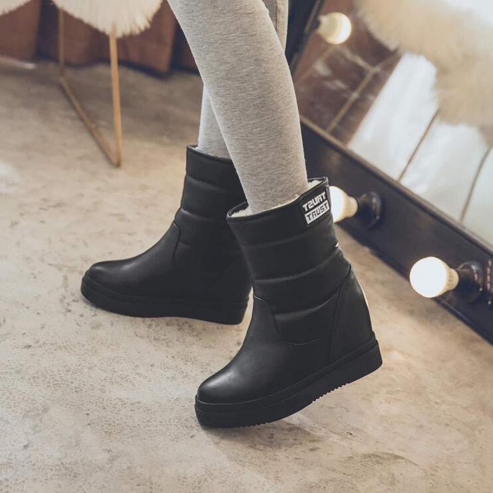 HY Frauen Stiefelies Winter Warm Winddicht Snowproof Snowproof Snowproof Schnee Stiefel Stiefel Ski Schuhe Damen Flache Slip-Ons Stiefel Ankle Stiefel (Farbe   Schwarz Größe   34) 7e72da