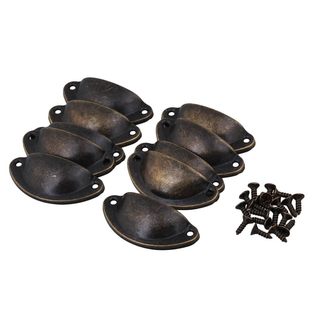 RDEXP Antique Bronze Semicircle Vintage Drawer Pulls and Handles Set of 4