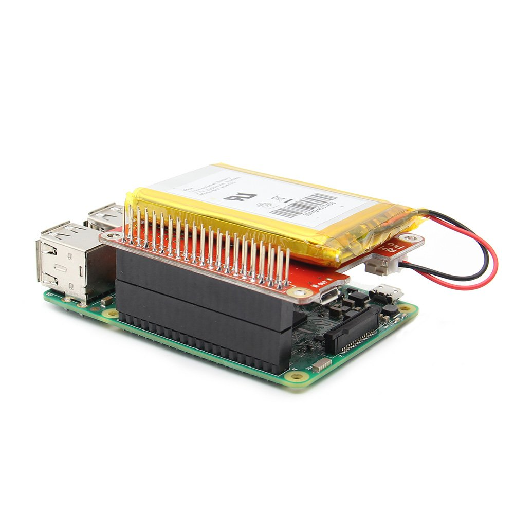 MYAMIA Geekworm Power Pack Pro V 1.1 Litio Batteria Power Source Ups Cappello Scheda Espansione Per Raspberry Pi