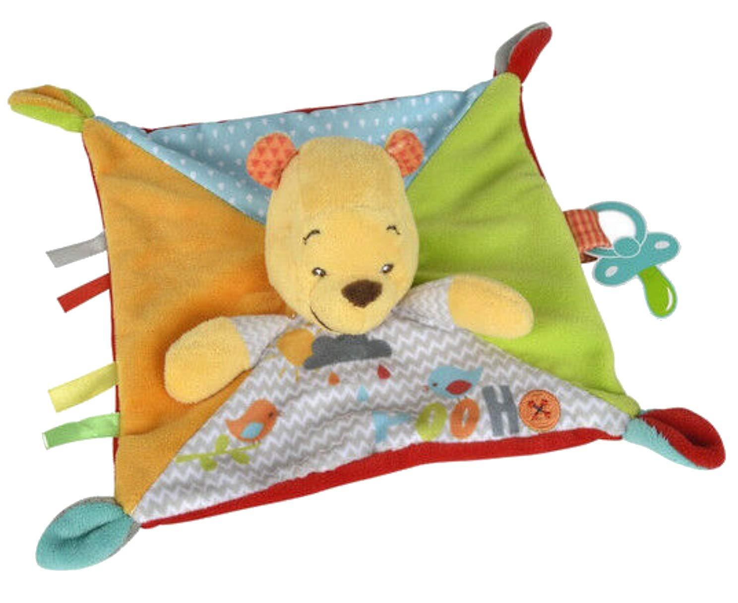 Disney - Doudou Disney Winnie the pooh plat orange pluie attache tetine oiseau wonderland - 8356