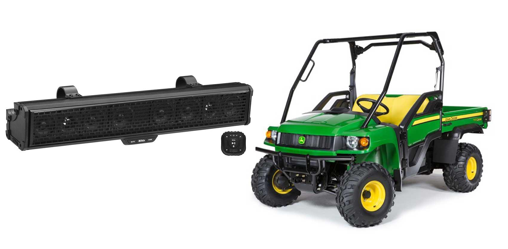 John Deere Gator XUV/RSX 500w Powered Sound Bar+Bluetooth Controller+Dome Light