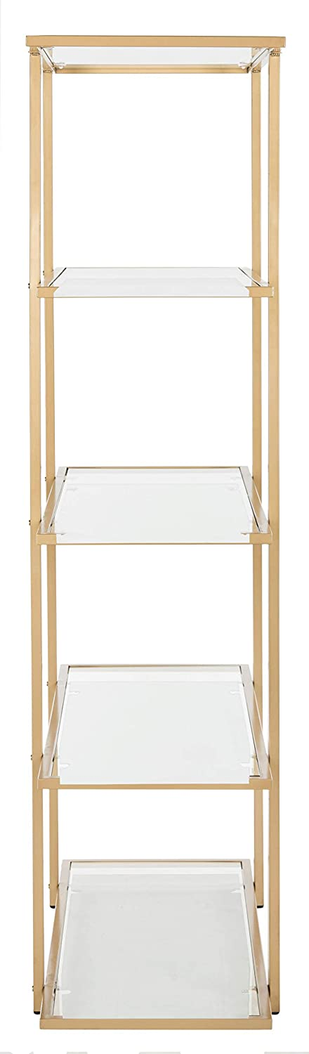 Safavieh ETG6202A Home Collection Francis 5 Tier Etagere, Gold Clear