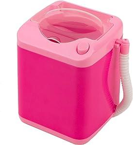 Framendino, Pink Makeup Brush Sponge Washing Machine Comes with Bucket Automatic Drying Makeup Brush Sponge Puff