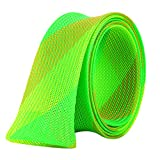 Isafish Fishing Rod Sock Covers Braided Spinning Baitcasting Rod Sleeve Expandable 67x1.6 Inch Fishing Gloves Protector Green