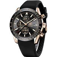 BENYAR Men's Watch Quartz Movement Watches for Men 3ATM Waterproof Men's wristwatches Multifunctional Chronograph with…