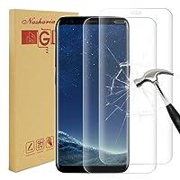 [2 Stück] Galaxy S8 plus Panzerglas Schutzfolie, Nasharia 9H Härtegrad, 99% Transparenz Full HD, Anti-Fingerabdruck Hohe Qualität Gehärtetem Glass, Anti-Kratzer Displayschutz für Samsung Galaxy S8 Plus