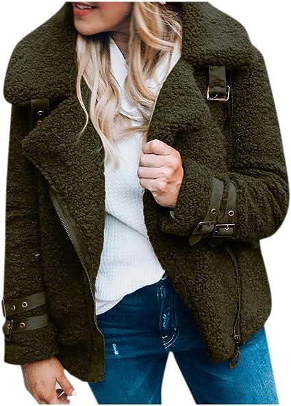 L//US 12, Black Women Jacket Spring Autumn Winter,Vanvler Ladies Oblique Zipper Hoodie Slim Fit Coat Long Sleeve Blouse