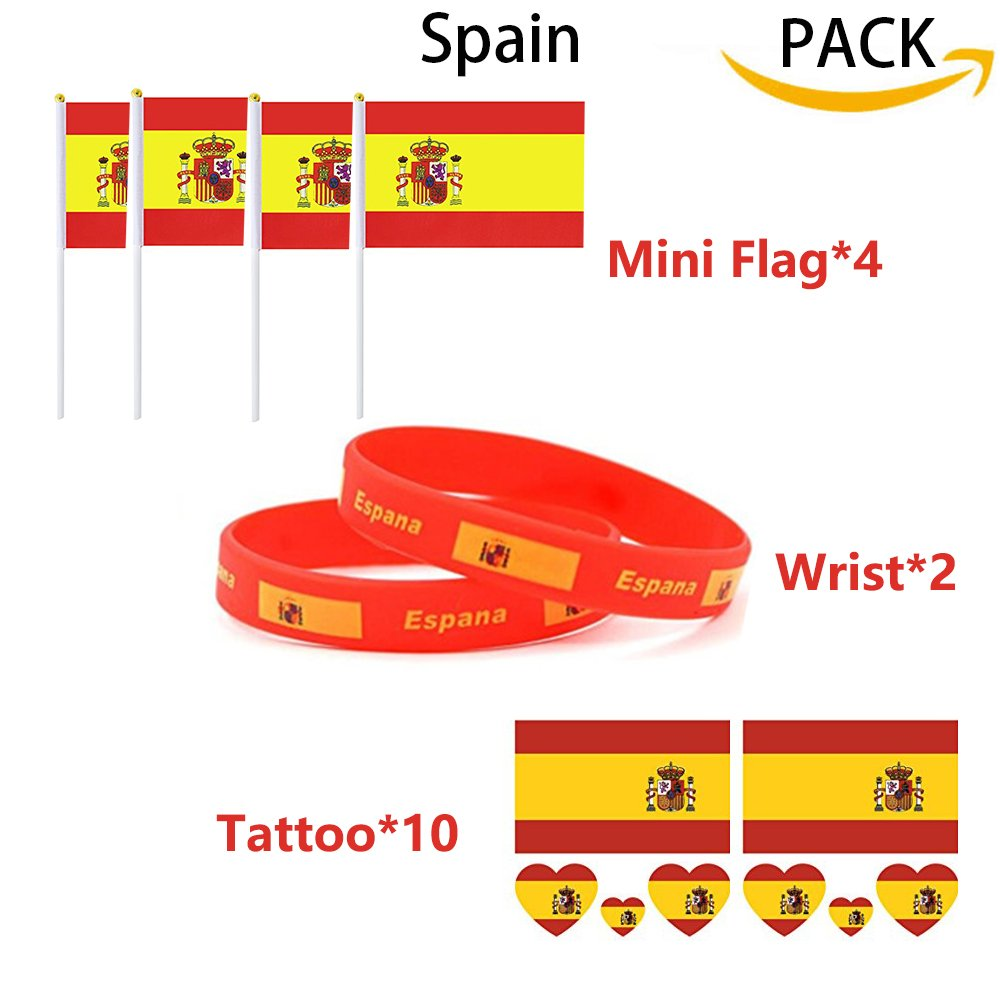 2018 Copa del Mundo Tatuajes de Banderas Nacionales de la FIFA ...