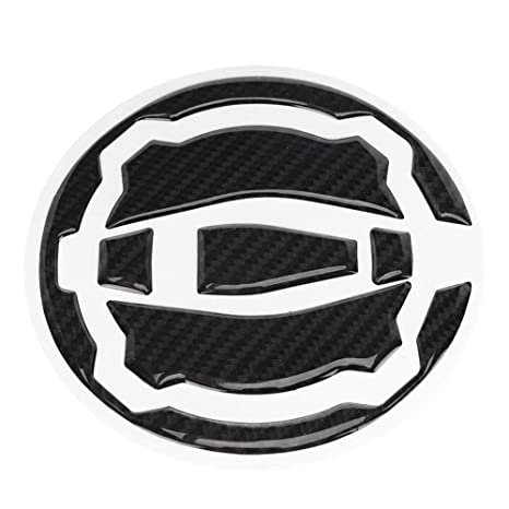 BiuZi Black Motorcycle Stickers Carbon Fiber Sticker for CAR Z900 Z650 17-18