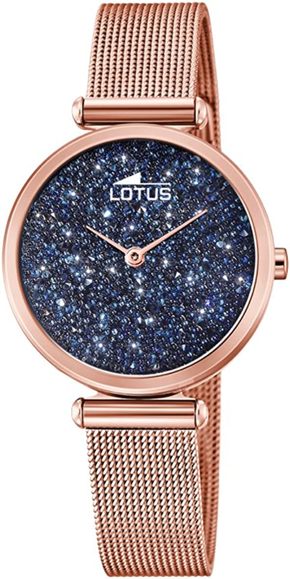 Lotus Watches Reloj Análogo clásico para Mujer de Cuarzo con Correa en Acero Inoxidable 18566/2