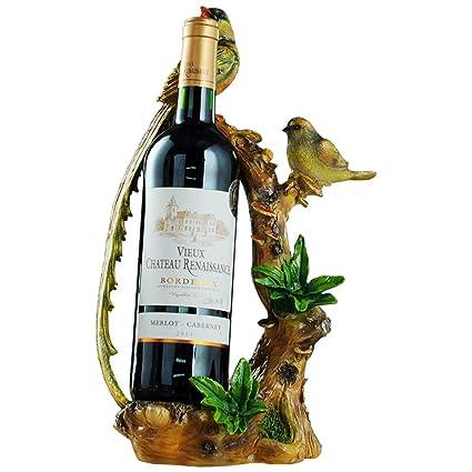 KMYX American Wine Rack Decoración Mesa de Vino Gabinete Suave Adorno Botella de Vino Interior Embellecer