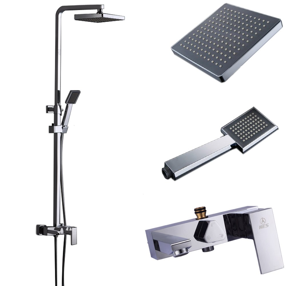 cheap KES European Style Exposed Shower System Bathroom Rainfall ...