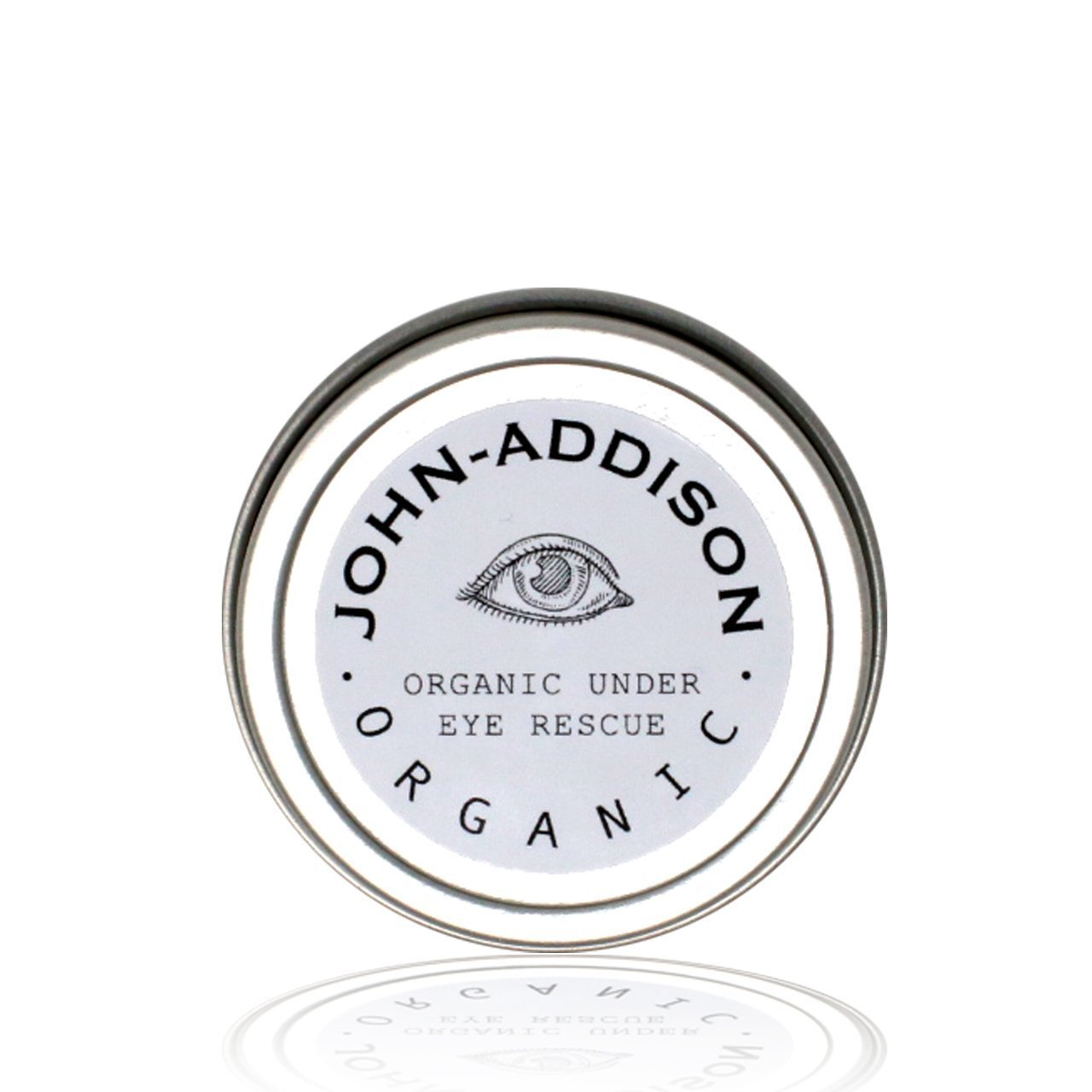 ORGANIC UNDER EYE RESCUE by JOHN ADDISON - Reduces Dark Circles Puffiness Fine Lines & Wrinkles - Helps Keep Skin Hydrated Reducing The Look Of Aging - Shea Butter - Coconut Oil - Olive Oil - Almond Oil - Chamomile - Bees Wax - 1oz tin