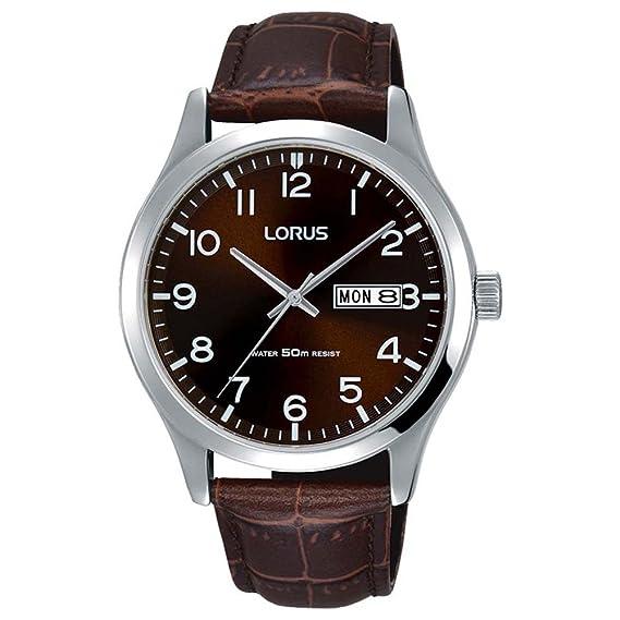 Lorus Reloj Analógico para Hombre de Cuarzo con Correa en Cuero RXN41DX9: Amazon.es: Relojes