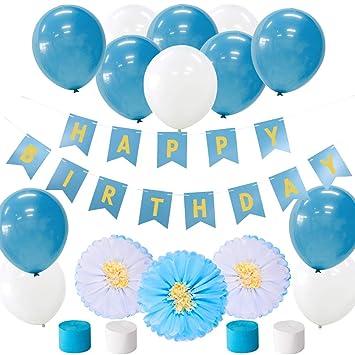 Bandera Azul de la Guirnalda del Happy Birthday de Fiesta ...