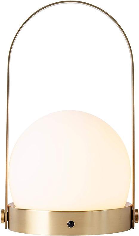 Menu Carrie LED Akkuleuchte tragbar, olive H 24.5cm Ø 13.5cm
