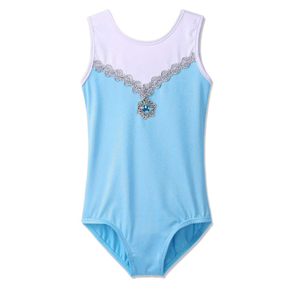 67eb427f14e9 Girls Gymnastics Leotard Sparkle Shiny One Piece Dance Outfit ...